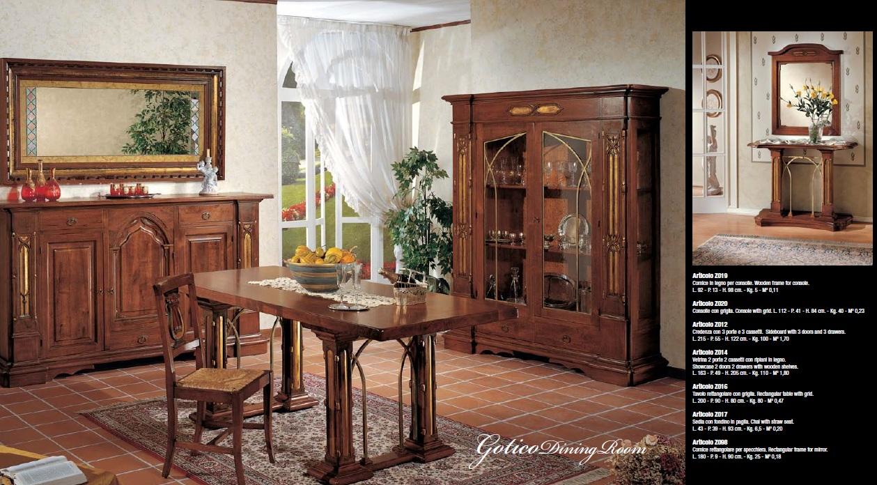 Credenza Camera Da Pranzo : Collezione gotico sala da pranzo e camera letto